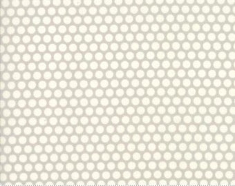 One Week Sale 8.99 A Yard - Bonnie and Camille Fabric - Bonnie Camille Grey 55023 36 Moda Basics  - Bliss Dot Grey