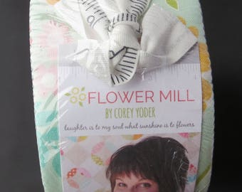 Flower Mill Jelly Roll - By Corey Yoder for Moda