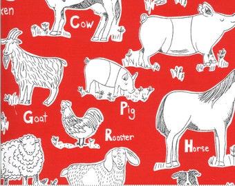 On The Farm  - 2070216 - Moda - Animal Farm Red  By Stacy Iest Hsu