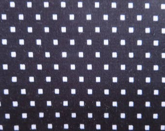 8.99 A Yard - Black Fabric With White Squares - Shine Bright FabricBy Simple Simon And Company For Riley Blake - C6666