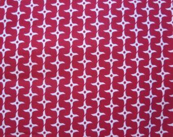 Riley Blake - Ninja Star - Red Fabric
