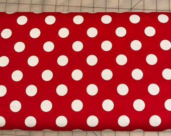 Riley Blake -  Medium Dots Red -  C360 -80 - 8.99 A Yard