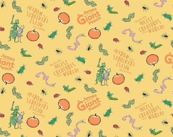 Riley Blake -  James and the Giant Peach Creature Yellow - C7741