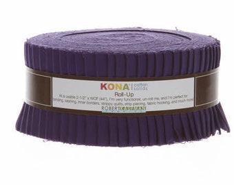 Roll Up Kona Solids Purple Color 40pcs 2-1/2in Strips - RU-324-40 - RU32440