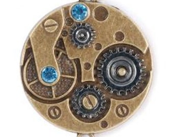 STEAMPUNK Metal Accents Watch Movement- STEAM081