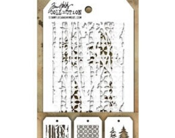 Stampers Anonymous Tim Holtz Mini Layering Stencils - Set 21 THMST021