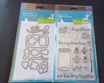 Lawn Fawn - Bugs And Kisses Stamp Set AND Craft Die Set