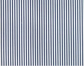 8.99 A Yard - Bonnie Camille Smitten Fabric -Pinstripe Navy 5517315