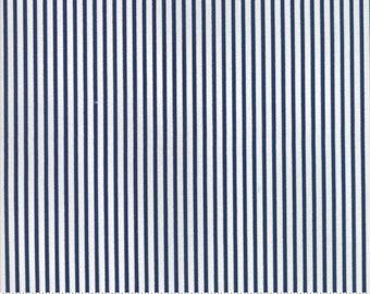8.99 A Yard One Week Special - Bonnie Camille Smitten Fabric -Pinstripe Navy 5517315