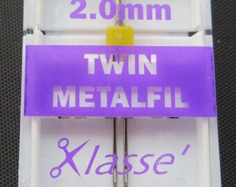 Klasse Metafil Twin Embroidery Machine Needle Size 2.0mm # A6159-20