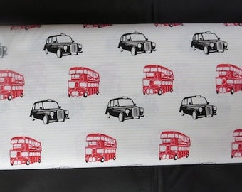 British Invasion by Riley Blake - British Taxi Cream - England Fabric