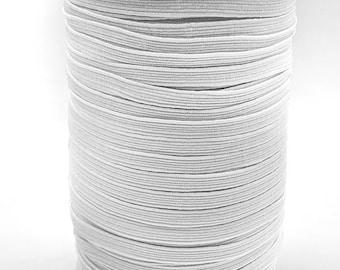 White Elastic Quarter Inch X 10 Yards