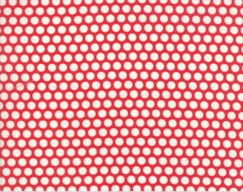Bonnie and Camille Fabric - Bonnie Camille Ruby Red 55023 31 Moda Basics  - Bliss Dot Red