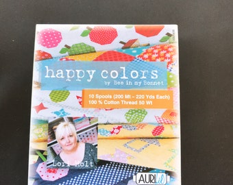 Lori Holt Thread - Bee In My Bonnet- Happy Colors Collection - LH50FC10 Aurifil