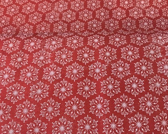 Tim Holtz - Yuletide PWTH119 Snowflakes Red
