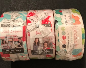 Three Bonnie and Camille Jelly Rolls - Handmade - Little Snippets - Smitten - Three Jelly Rolls