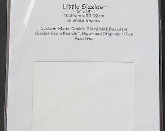 "Sizzix Accessory -  Little Sizzles 6"" x 13"" White Sheets"