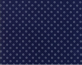 8.95 A Yard One Week Special - Bonnie Camille Smitten Fabric - Little Darling Dot Navy 55172 15