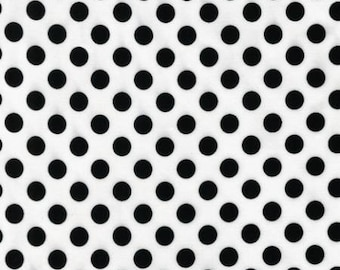 Spot On - White Small Dots  EZC12872 - 1 - Robert Kaufman - White