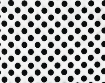 Spot On - White Small Dots  EZC128721 - Robert Kaufman - White