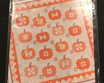 Pumpkins And Cream -  Pattern by Fig Tree and Co