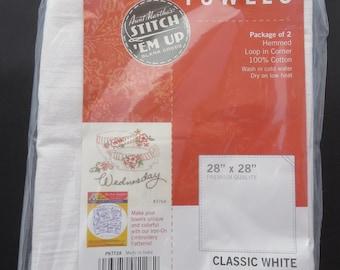 Flour Sack Dish Towel 28x28 2ct PKTT28 Aunt Martha