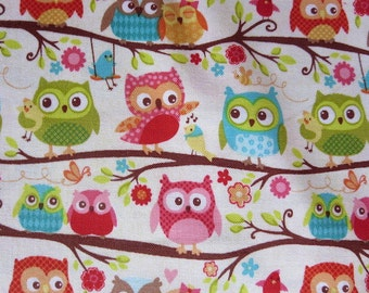 End of Bolt 32 Inches - Riley Blake - Happy Flappers Owls - Cream - UNABLE To GET MORE!