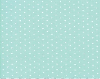 The Good Life Fabric - Floral Whole Heart Aqua - 55154 22 -  Bonnie And Camille - 5515422