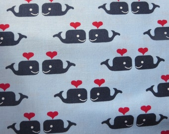 Marina Whales in Love # ST-JL707MAR - Dear Stella -Oh Say Can You Sea by Jack & Lulu Collection In Theme