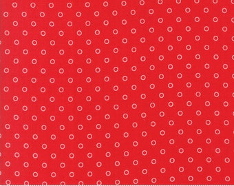 Bonnie Camille Smitten Fabric - Little Darling Dot Red 55172 11