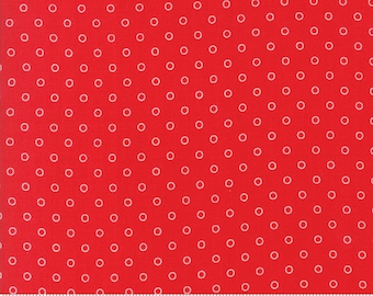 8.95 A Yard One Week Special - Bonnie Camille Smitten Fabric - Little Darling Dot Red 55172 11