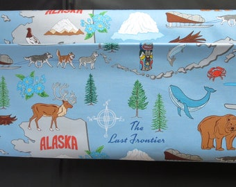End of Bolt 1/2 yard State Cotton The Last Frontier Alaska Fabric - Windham Fabrics 42900 - X