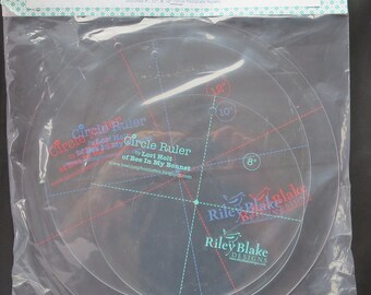 "Circle Ruler Set by Lori Holt For Riley Blake 8"", 10"" AND 12"" Sizes With Retail Packing"