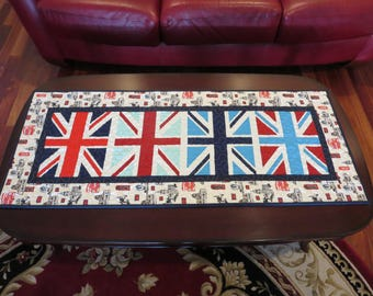 Homemade British Flag Table Runner