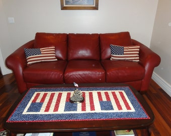 American Quilted Table Runner 2