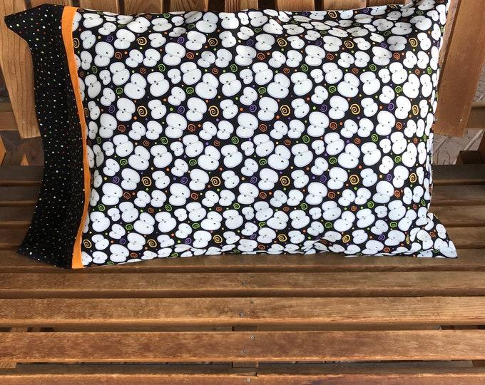 Featured listing image: Pillowcase - Halloween Themed Pillowcase/ Chills and Thrills - Glow In The Dark Fabric - Eyeballs