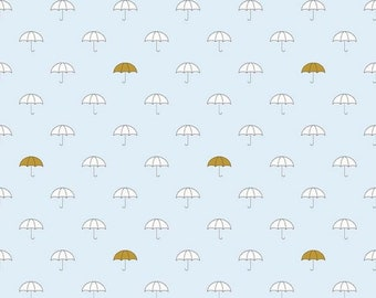 Riley Blake Fabric  - When Skies Are Grey - SC5600 Blue Sparkle Umbrella