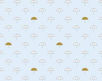 Riley Blake Fabric  - When Skies Are Grey - SC5600 Blue Sparkle Umbrella