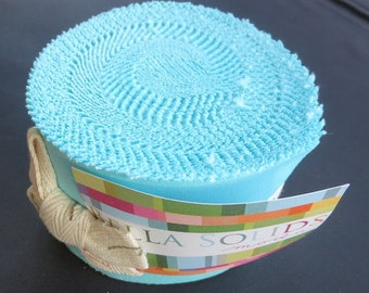 Bella Solids Junior Jelly Roll - Moda 9900JJR - 85 Egg Blue - More In Stock!