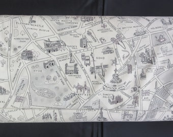 Moda's New Passport Fabric - Novelty London Map Passport 33012 16