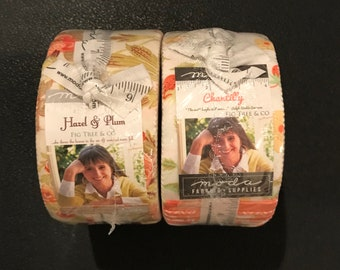 Fig Tree - Chantilly  -  Hazel And Plum Jelly Roll - Moda -  Only 5.99  US Dollars Shipping