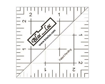"Bloc Loc 2.5 - One Remaining - Half Square Triangle Ruler 2.5"" HST 25 Bloc Loc"