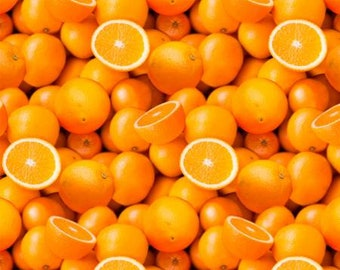 Vitamin C Digitally Printed  51890D-X - Oranges Fabric by Whistler Studios