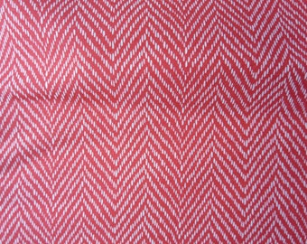 Moda - Fig Tree Co Floral Herringbone Red - Hazel Plum - Pomegranate 20295 11