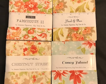 Fig Tree Charm Pack Set - Hazel And Plum Coney Island Chestnut Street And Farmhouse