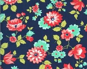 Bonnie Camille Shine On Fabric - Shine On Blossom Navy - 5521117 - 55211 17