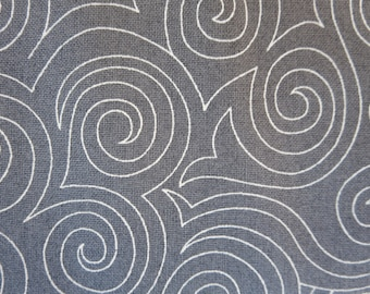 8.99 A Yard - Natalia and Kathleen Of Piece N Quilt Thrive Scroll Grey - 10907 17