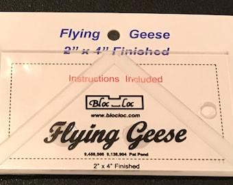 "Bloc Loc -Flying Geese Ruler 2"" x 4"" FG 2X4 Bloc Loc"