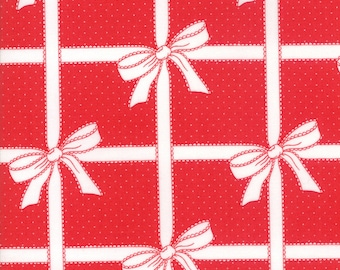 Bonnie Camille Vintage Holiday - Bonnie and Camille Seasonal Christmas Wrapped Up Red - 5516511 - 3 Day Price of 8.99 A Yard