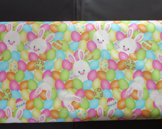 Featured listing image: Henry Glass -   Hop To It!  by Shelly Comiskey of Simply Shelly Designs - 6855-21  Eggs/Bunnies-Multi